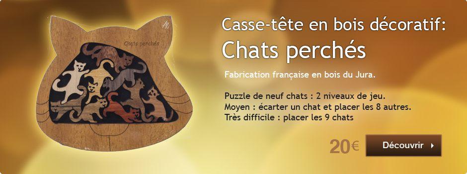Bannière Droite - Casse tête chats perchés