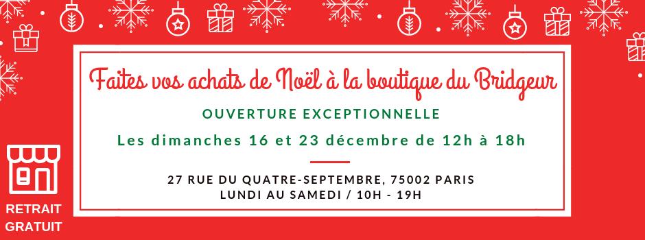 Bannière horaire boutique Noël